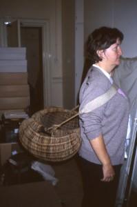 Cane frame basket Leith