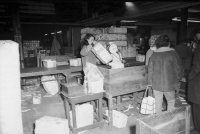 Crownpoint Box factory women 'chip' or fruit assembling baskets