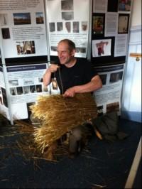 Ewan Balfour making a kishie