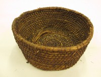 Ciosan from Uist, probably made from marram grass wrapped with willow or bramble. Highland Folk MuseumQP4