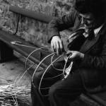 John White making an Ose basket frame. School of Scottish Studies,1959
