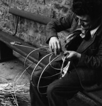 John White making an Ose basket frame. School of Scottish Studies,1959