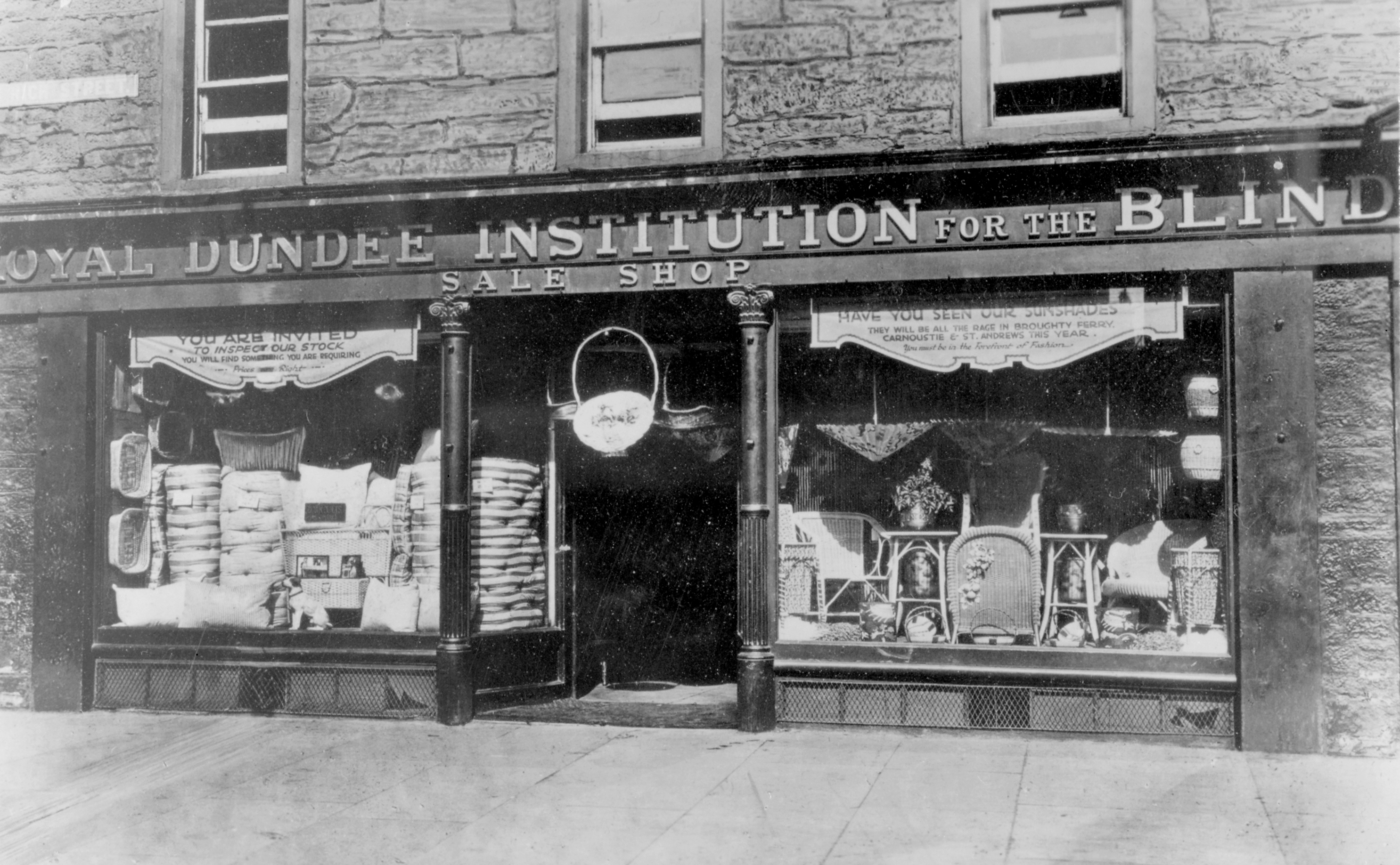 the royal dundee institution for the blind sale shop nethergate dundee 1920s national museums of scotland