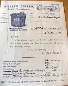 Basket invoice, Unst Heritage Centre