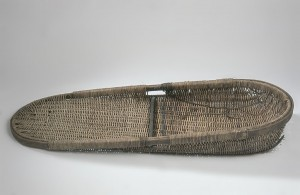 Arbroath scull, from the Fishery Office Arbroath 1964. Rattan. probably a Peter Lindsay basket. National Museum of Scotland