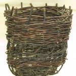 Willow and wood creel from Tarbert, Harris. Highland Folk Museum