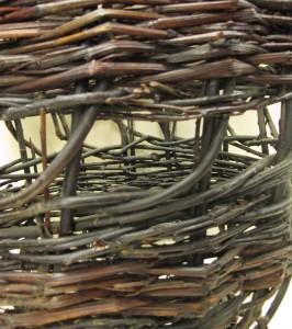 Creel, Tarbert, Harris. Detail of band. Highland Folk Museum