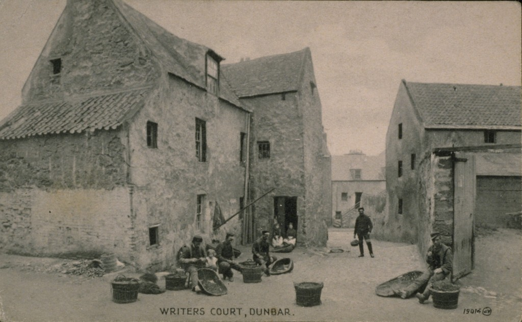 Baiting lines in Writers' Court Dunbar, 1893