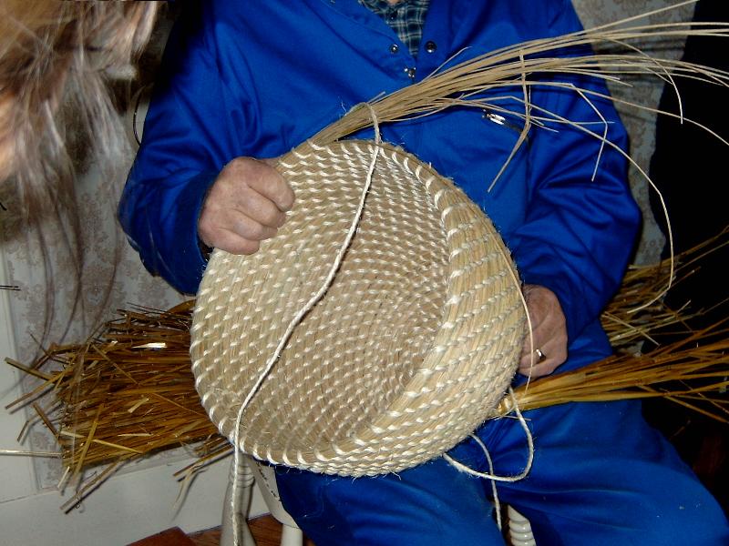 Coiling. Jimmy Work, Shetland 2007