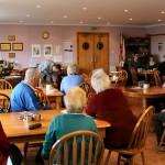 Baskets of the Hebrides talk. Bernera cafe.