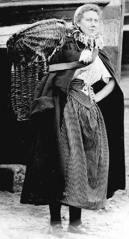 Helen Hamilton (later Fairnie) in her working clothes.1910. Simon Fairnie's grandmother.