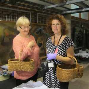 Liz and Julie in the Museum of Rural Life organic store