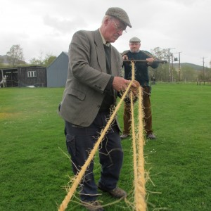 Rope making at the Highland Folk Museum