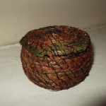 Coiled hair moss basket by Angela Price