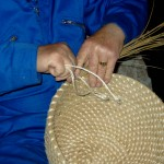 Coiling in progress. Jimmy Work, Shetland 2007