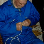 Starting coiling. Jimmy Work, Shetland 2007