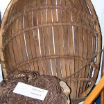 Wooden 'basket' for baited long line. Ness, Lewis