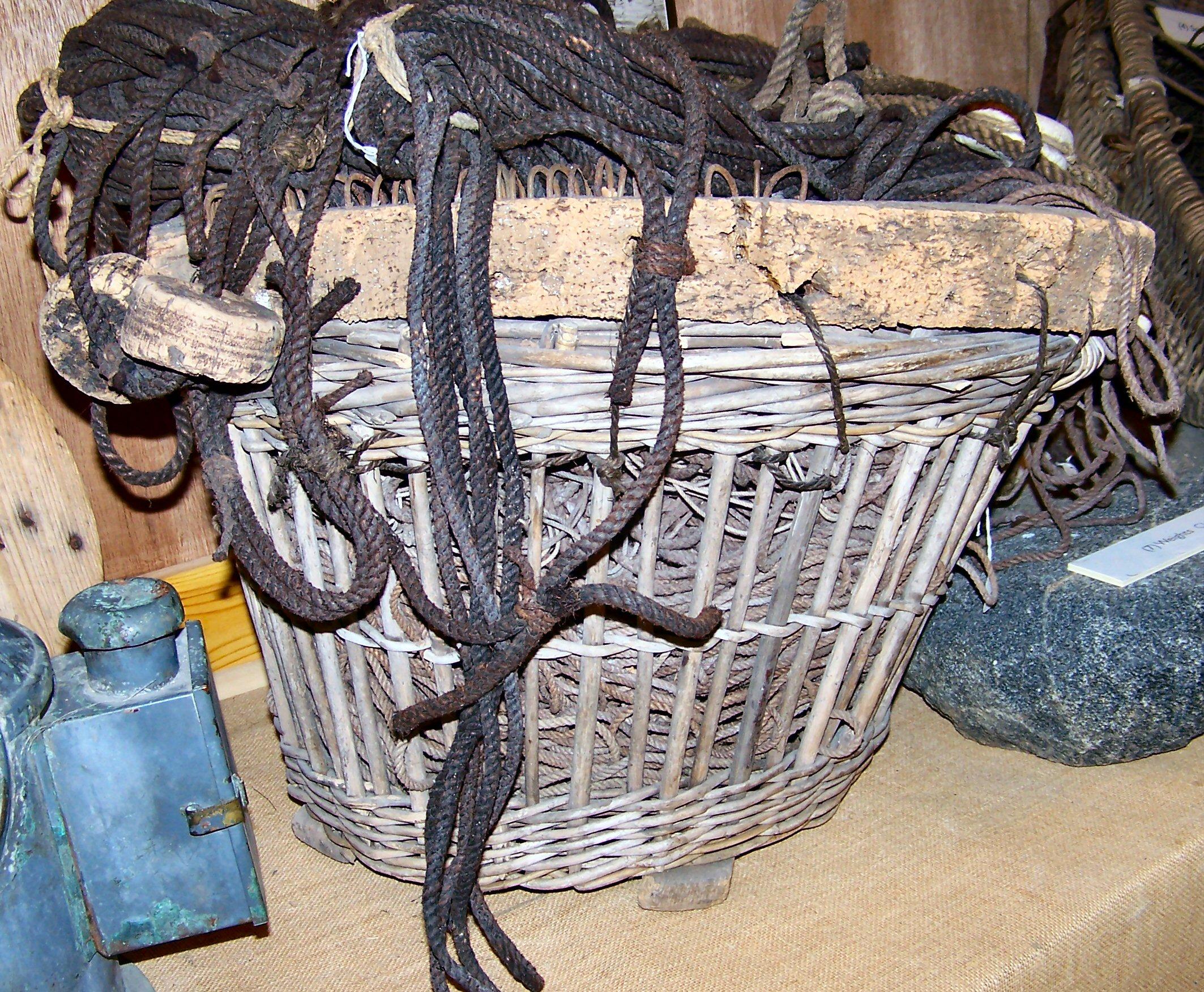 Great Line basket . Uig Historical Society